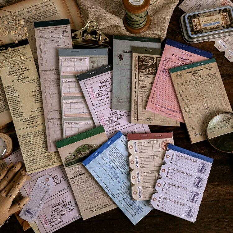 12pcs/LOT Vintage Notes Series Simple Retro Frame Message Paper Memo Pad