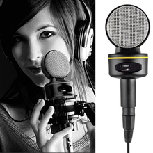 SOONHUA Condenser Microphone 3.5mm Plug Computer Microphones With Tripod For Online Chatting Gaming Podcast Voice Recording tyless usb plug computer tabletop omnidirectional condenser boundary conference microphone for recording gaming skype voip call