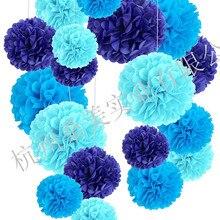 Поставка бумажные цветы-шары Pom с цветочным рисунком комплект детской одежды Декорации для вечеринки на день рождения праздничный Бумага цветок