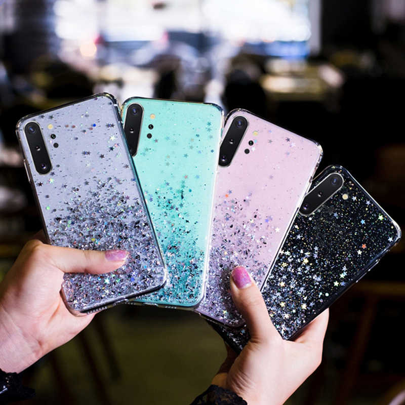 Cao Cấp Lấp Lánh Sao Ốp Lưng Dành Cho Samsung Galaxy Samsung Galaxy A51 A71 A70 A50 A10 A20 A30 A60 A80 A10S S20 Note 10 9 8 S10 S9 S8 Plus S10E Bao
