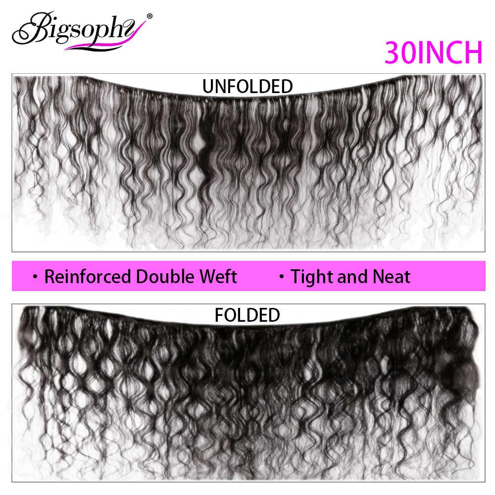 Paquetes de armadura de pelo brasileño de la onda del cuerpo paquetes de 28 30 32 34 36 38 40 pulgadas cabello humano 1 pieza extensión de cabello Remy