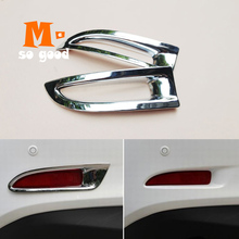 цена на For Mazda 6 2014 2015 2016 2017 Gj Atenza Accessories ABS Chrome Rear Fog Light Lamp Covers Trims Car Exterior Sticker Shell