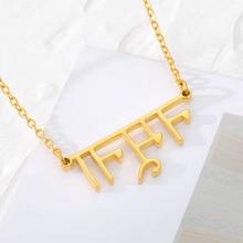 BFF Indian Jewelry Personalized Custom Religious Hindi Name Necklace Stainless Steel Hindu Ethnic Style Buddha Pendant Choker