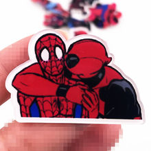 1PCS High Quality Acrylic Marvel Hero Icon Pin Spider Man Deadpool Funny Brooch Avengers Badge Scarf Bag Hat Clothes Decoration(China)