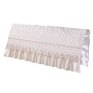 Image 5 - European Style Silk like Bedroom Bed Headboard Slipcover Protector Bed Beige