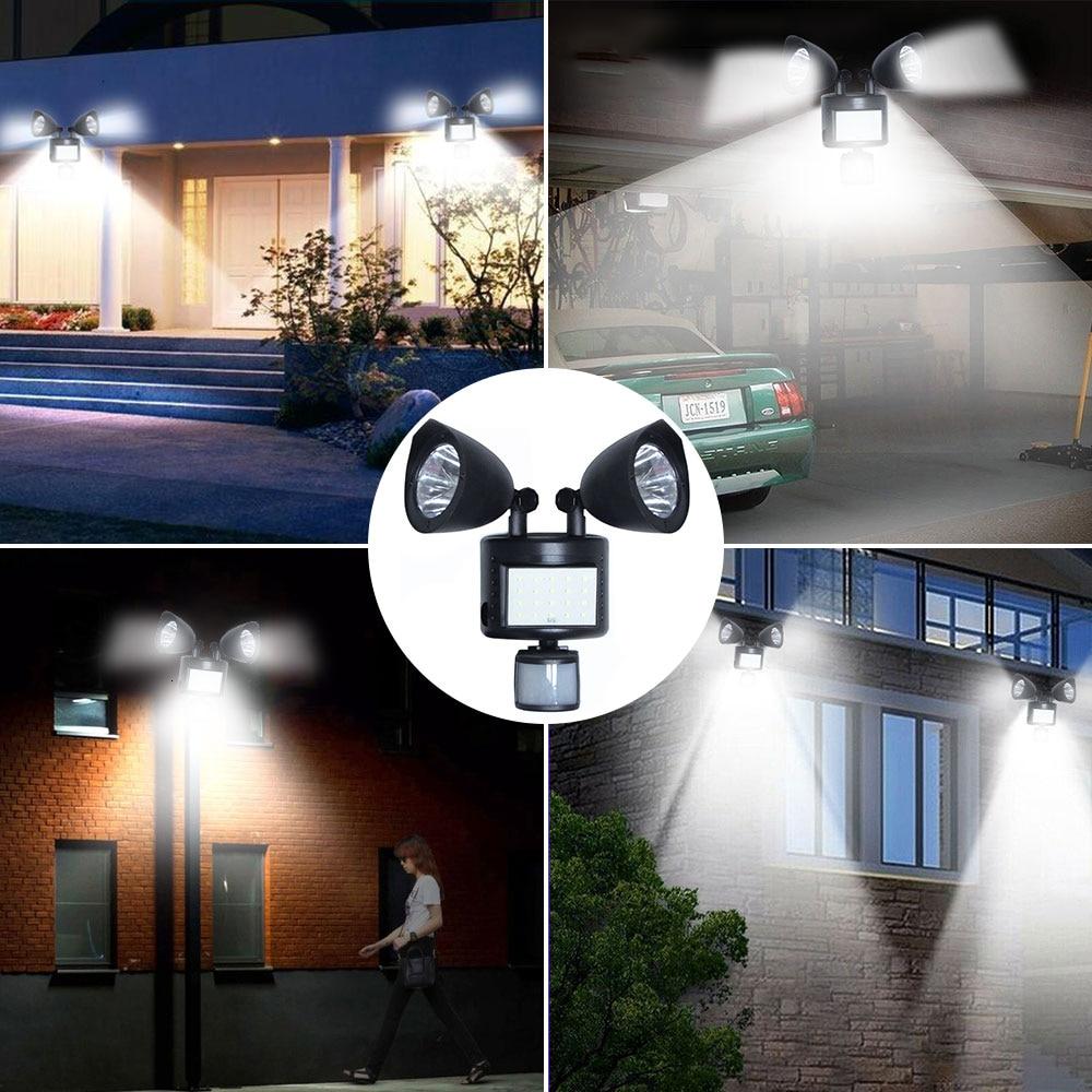 água luz de segurança lâmpada indução para jardim caminho garagem