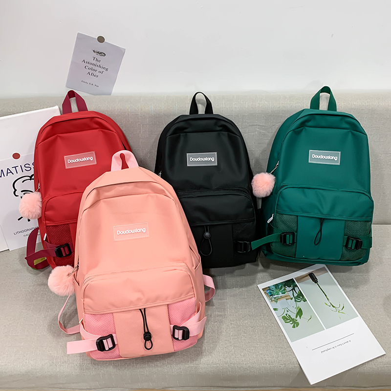 Details about  /Girls Canvas Backpack 4 Pcs//Set Women School Backpack Schoolbags Teenagers Girls