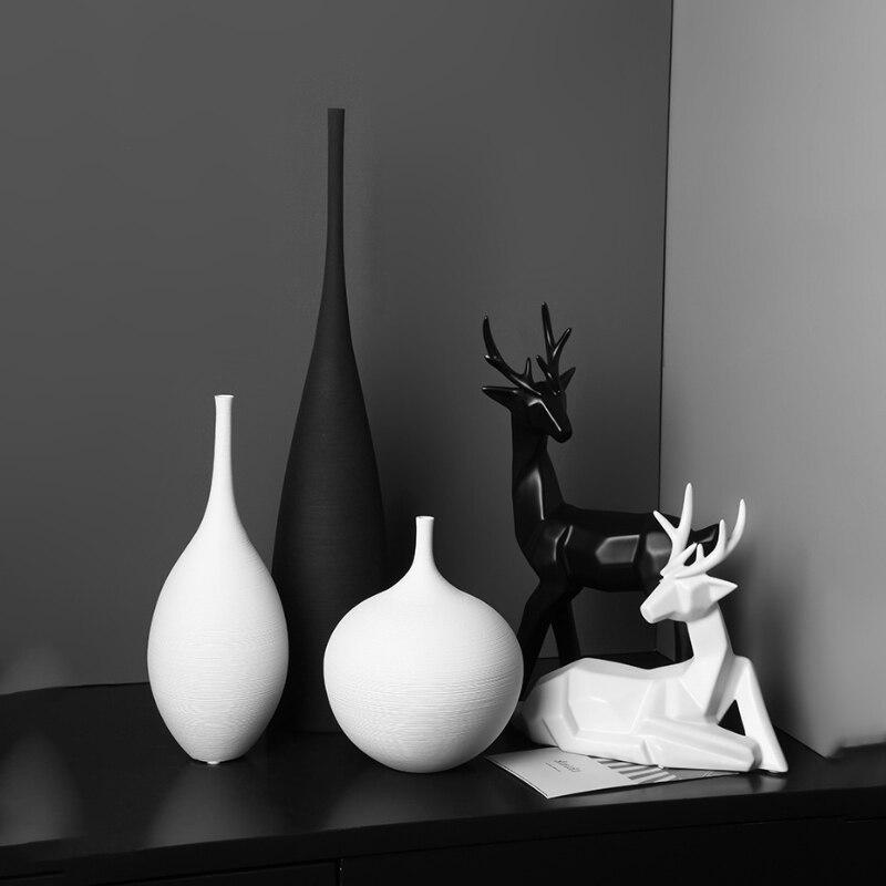 21.6US $ 47% OFF Nordic Ceramic Vase Decoration Home Living Room Dried Flowers Floral Arrangement TV...