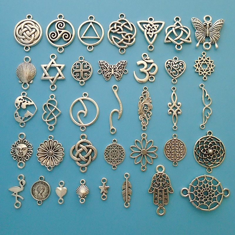 15pcs Connector Charms For Bracelet Jewellery Making Findings