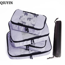 Compression Packing Cube Luggage Organizer/Waterproof/Woman/Mens/Childrens/Foldable/Nylon Travel Bag Organizer/Hand