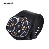 Control remoto Bluetooth 4,0 para teléfonos inteligentes, reproductor de música para volante de coche y bicicleta, accesorios automáticos