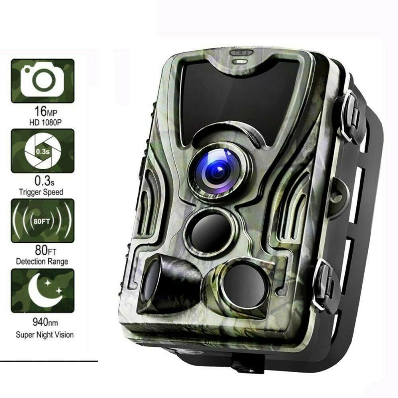 HC801A Hunting Trail Camera Night Version Wild Cameras 16MP 1080P IP65 Photo Trap 0.3s Trigger Wildlife Camera Security Cams