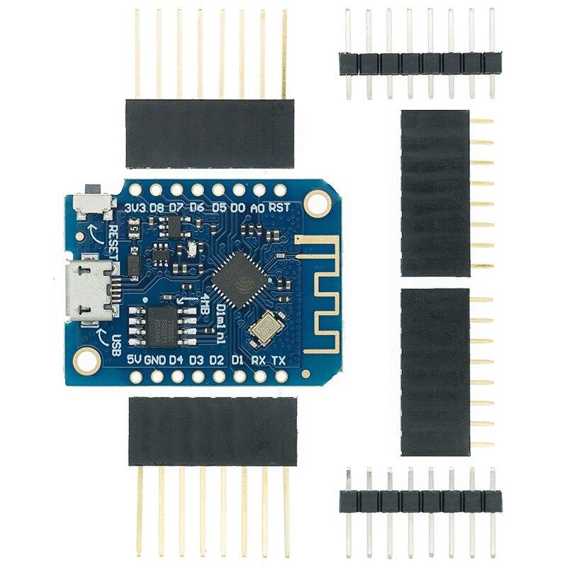 Wemos D1 Мини беспроводной Wi-Fi Интернет вещей Плата развития ESP8266 CH340 CH340G 4MB для Arduino Nodemcu V2 V3.0 3,0