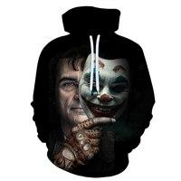 Fashion Joker Hoodie Men/Women Thin 3d Sweatshirts Print Blood Eyes Clown Hoodies Tops Hoody Plus Size 6XL
