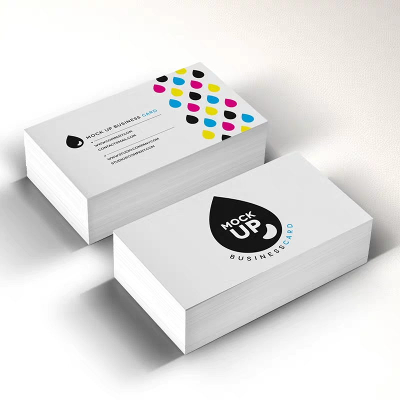 Image 3 - 90X54 mm 300gsm white paper with both sides printing full color printing business card-in Business Cards from Office & School Supplies