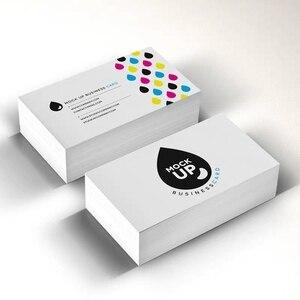 Image 3 - 90X54mm 300gsm לבן נייר עם שני הצדדים הדפסה מלא צבע הדפסת כרטיס ביקור