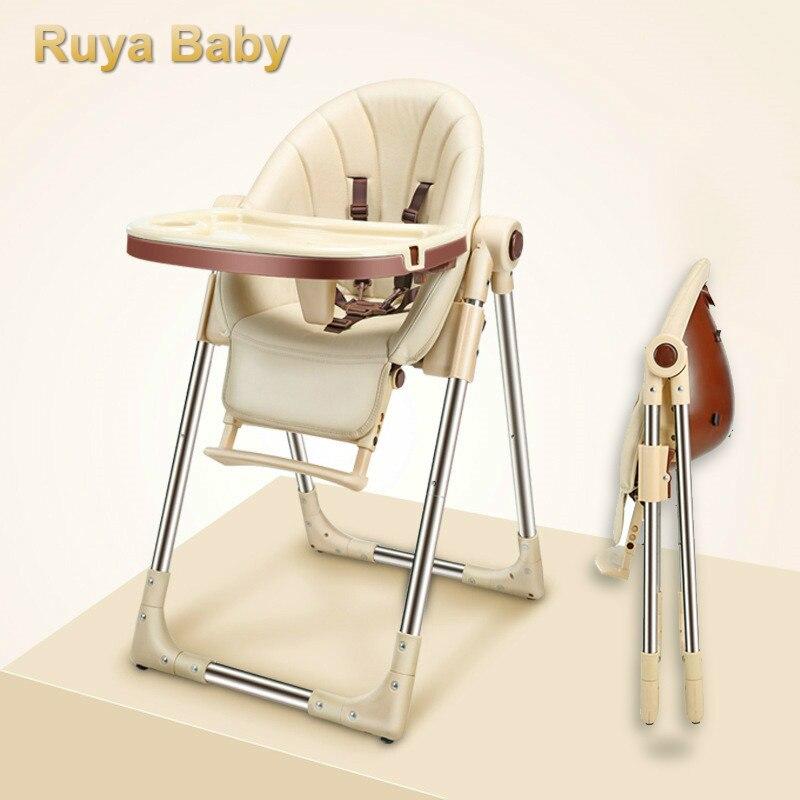 Portable Children HighChair Multifunctional Eating Baby Born Seats Sofa Feeding Adjustable Folding Table Food Tray Plastic
