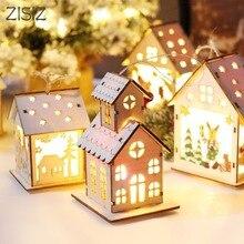 ZISIZ светодиодный светильник с изображением лося, рождественской елки, семейный бар, кафе, Санта-Клаус, праздничная лампа с питанием от батареи, атмосферное украшение