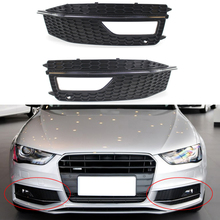 2pcs Front Bumper Lower Fog Light Lamp Grille Cover Replacements Plastics Black For Audi A4 B8 S4 S-line A4L B9 S-Line 13-16 msdtoys s6 lower body cover black