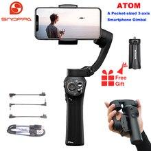 Snoppa atom 3 eixos dobrável pocket sized handheld cardan estabilizador para iphone smartphone gopro & carregamento sem fio pk suave q2