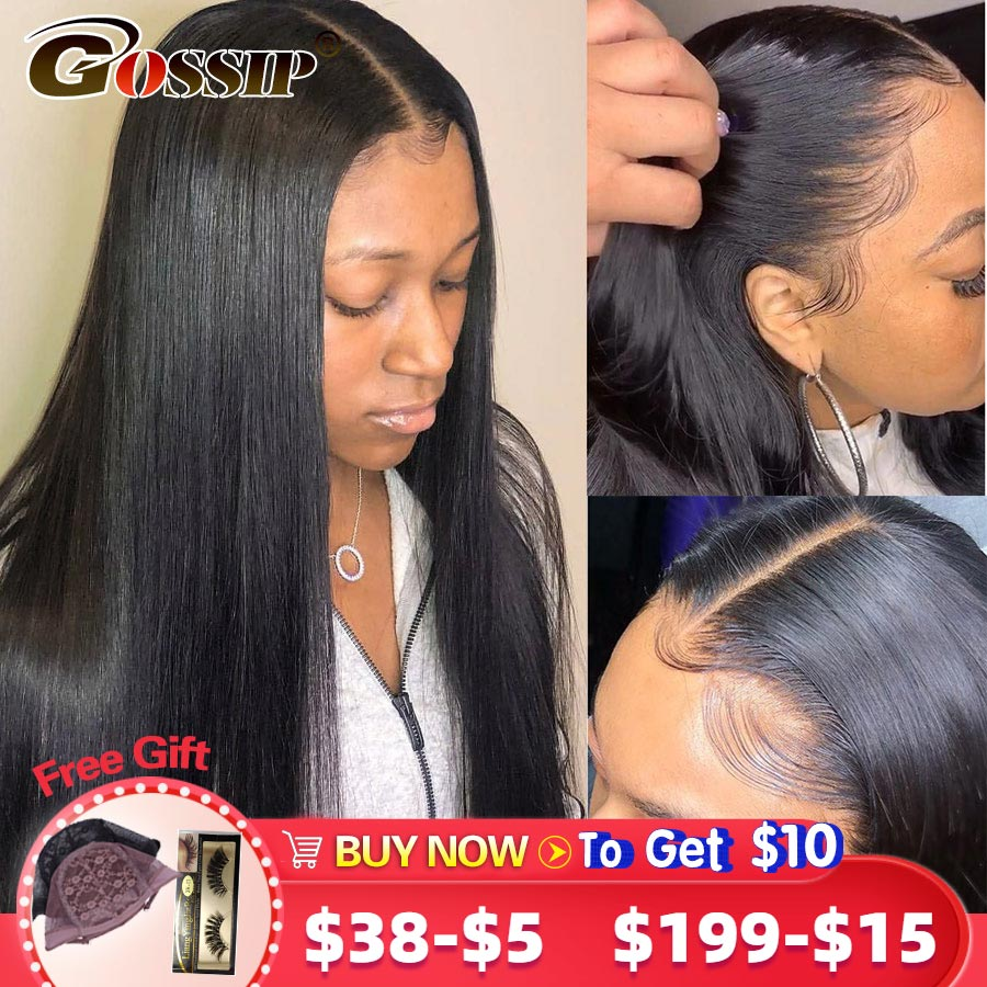 Straight 6 Inch Lace Front Wig Remy 360 Lace Frontal Wig Pre Plucked With Baby Hair Brazilian Hair Wigs For Women Ponytail Make