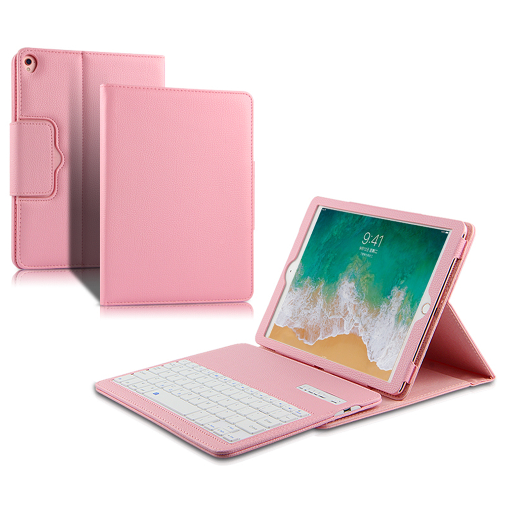 Keyboard Case For iPad 6 Tablet Case Litchi Grain PU Leather Bracket Flip Protector with Blutooth Keyboard Cover for iPad Air 2