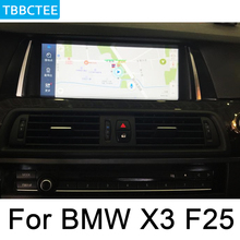 For BMW X3 F25 2011~2013 CIC Car Android Multimedia System 1080P IPS LCD Screen Car Radio Player GPS Navigation BT WiFi AUX цена