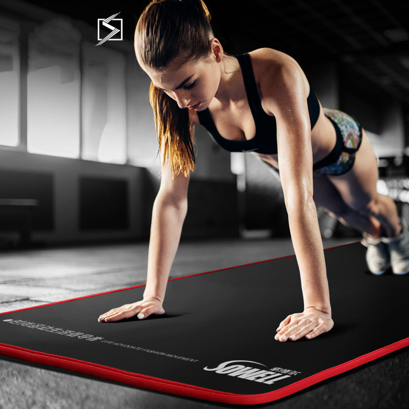 10mm Thickened Non-slip Yoga Mats Tear Resistant NBR Fitness Mats Sports Gym Pilates Pads With Yoga Mat Bag & Strap Gym Mat