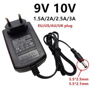 Универсальный адаптер питания 9 в 10 В переменного тока в постоянный ток, адаптер 9 10 В переменного/постоянного тока 1,5a 2A 2,5a 3A, переходник 5,5x2,5 ...