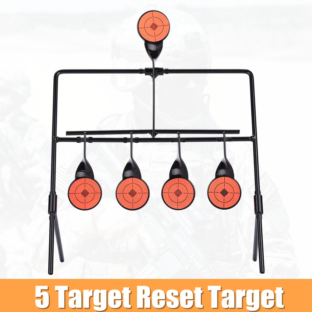 Resetting Targets with Portable Design Paintball Shooting Spots 4 Target for Outdoor Ranger Shooting and Hunting