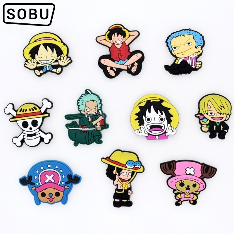 1pc Cartoon One Pieces Shoe Charms Shoe Accessories Shoe Decoration For Croc JIBZ/ Wristbands Kids Party Xmas Gift