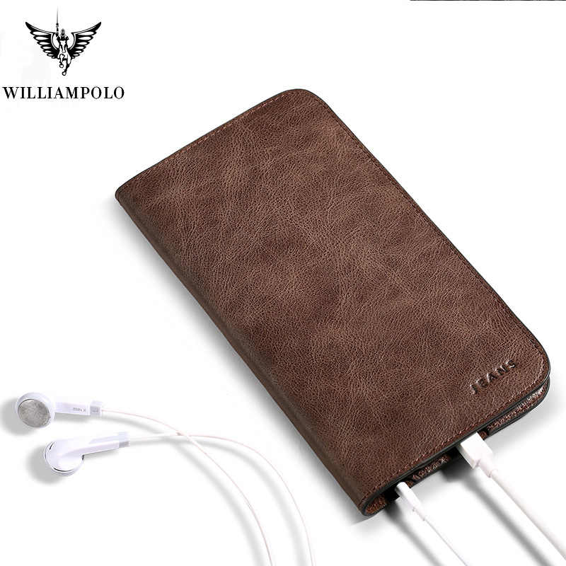 New Design Leather Slim Wallet  male Card Holder Phone Case Wallet For Men PL181