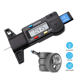 Tire Wear Detection Measuring Tool Digital Car Tyre Tire Tread Depth Gauge Meter Auto Caliper Thickness Gauges Tire Tools