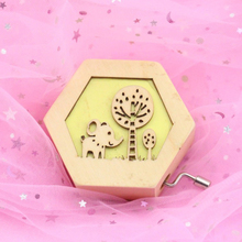 Decorations Hand Crank Kids Music Box Wooden Party Antique Christmas Carved Cute Animal Mini Girl Gift Birthday