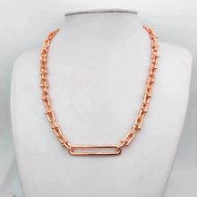 Ожерелье из стерлингового серебра 1:1s 925 изысканное большое