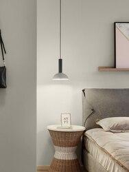 Pojedynczy klosz restauracja żyrandol europa północna nowoczesne zwięzłe lada barowa grupa połączyć sypialnia lampki nocne żyrandol w Wiszące lampki od Lampy i oświetlenie na