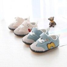 Модная повседневная детская обувь; милая кожаная обувь для новорожденных мальчиков и девочек; мягкая удобная детская прогулочная обувь на нескользящей резиновой подошве