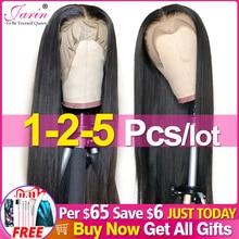 Perruque en cheveux naturels, avec frontal en dentelle 13x4, lisse, pré emballé, 28 30 32 pouces, 4x4, vente en vrac, 1 2 5 pièces/Lot