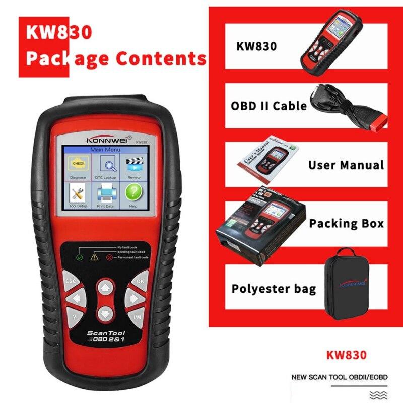 2019 KW830 OBD2 ODB2 Scanner automobile pour le Diagnostic lecteur de Code d'erreur automatique universel ODB2 Scanner de Diagnostic de voiture