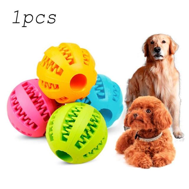 Pet Dog Toy Clean Tooth Ball Puppy Decompression Elastic Rubber Ball Dog Toy Pet Toy 1