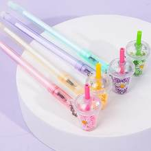 Hanger Gel Pen 0.38Mm Novelty Student Leuke Pennen Kawaii Briefpapier Gel Pennen Leuke Cartoon Schrijven Pen Kawaii Schoolbenodigdheden(China)