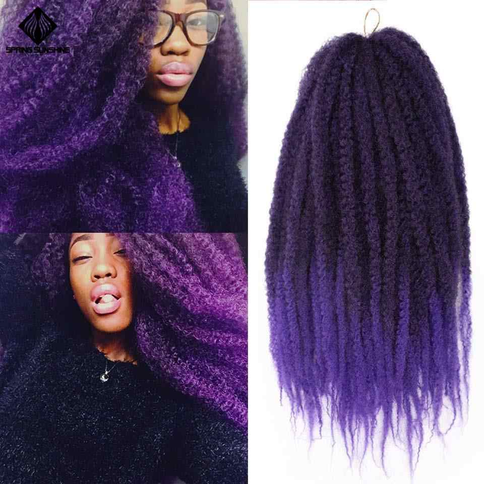 Spring Sunshine 18inch Ombre Afro Kinky Solft Marley Braiding Hair