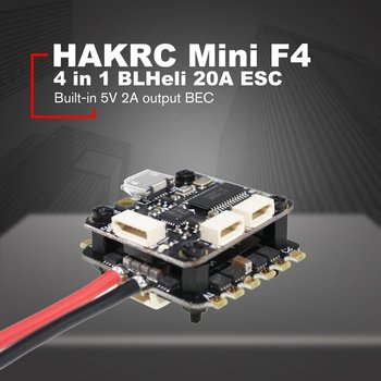 HAKRC Mini F4 Flytower Flight Controller Integrated OSD 4 in 1 BLHeli 20A ESC Built-in 5V 2A output BEC For FPV RC Drone new upgraded speedybee f4 aio v2 flight controller ble module integrated betaflight osd flight control with 16mb blackbox