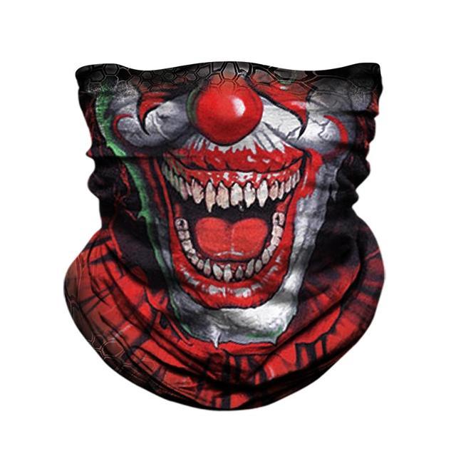 JAER Motorcycle 3D Orcs Clown Balaclava Joker V for Vendetta Mask Moto UV Protection Hat Helmet Liner Biker Face Shield