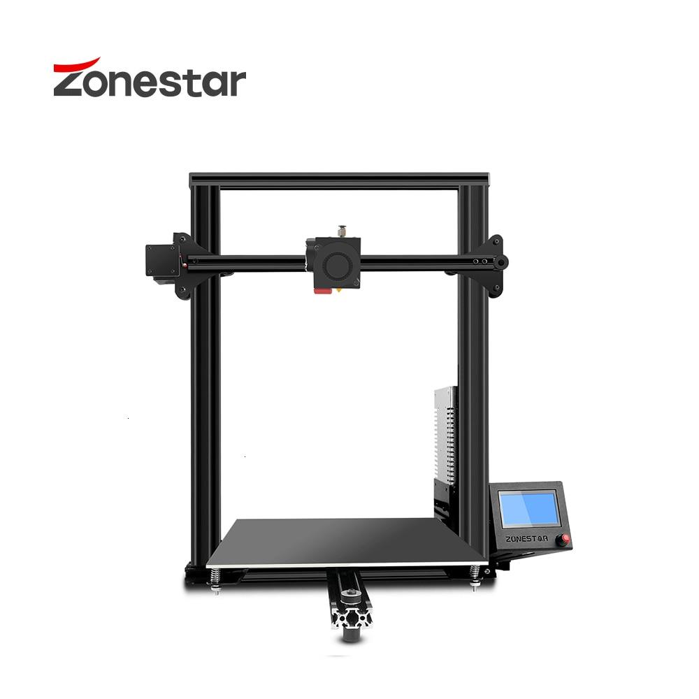 ZONESTAR Z5X большой размер опция двойной экструдер автоматический смешивающий цвет полностью металлический алюминиевый каркас 3D принтер DIY наб...