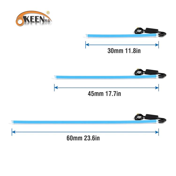 H4688ccbb46aa42deab027deaacdd33f8r OKEEN 2Pcs Slim Flexible DRL LED Knight Rider Strip Light For Headlight Sequential Flowing Amber Turn Signal Lights