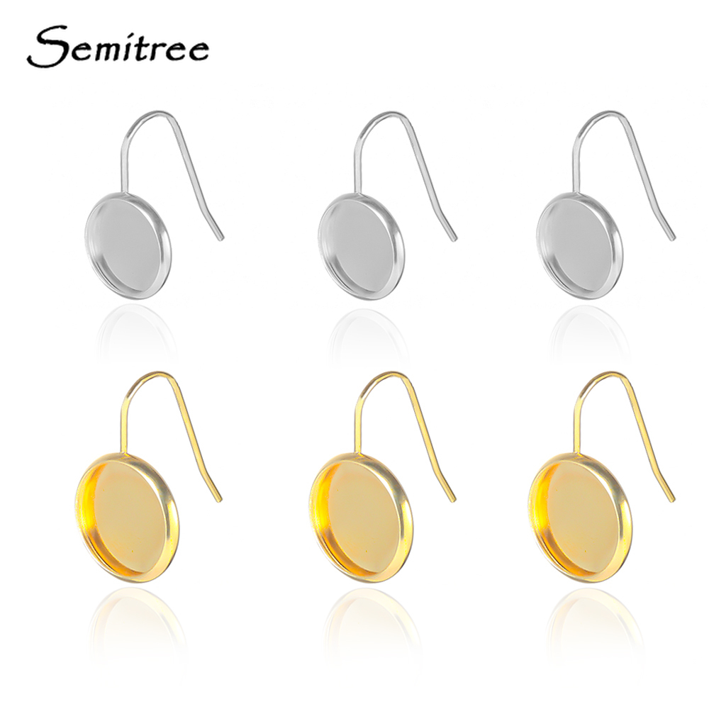 Stainless Steel Blank Earring Cabochon Cameo Bezel Base Tray Ear Studs 50//20PCS