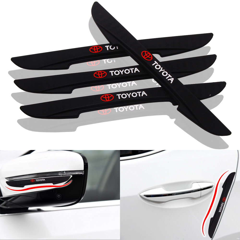 4pcs/set Car-Styling Universal DIY Car Decoration Strip Sticker Decals Car Door Bumper Strips For Toyota Camry Corolla RAV4