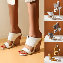 Adisputent Women 2020 New Style Summer Shoes Women's Ankle Strap Faux PU Wood Platform Chunky Heel Sandals Plus Size 34-48 womens super high chunky heel bowknot ankle strap sandals shoes party evening shoes platform sandals size33 sandals plus size