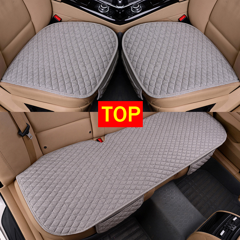 Protector-Mat Cushion Car-Seat-Cover Auto-Accessories Linen Fabric Four-Seasons Front title=